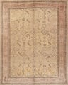 Pre-1900 Antique All-Over Geometric Muted Color Oushak Turkish Area Rug 10x13 image 1