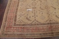 Pre-1900 Antique All-Over Geometric Muted Color Oushak Turkish Area Rug 10x13 image 13