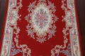 Floral Red Aubusson Chinese Wool Area Rug 5x9 image 4