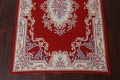 Floral Red Aubusson Chinese Wool Area Rug 5x9 image 6