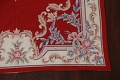 Floral Red Aubusson Chinese Wool Area Rug 5x9 image 7