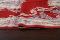 Floral Red Aubusson Chinese Wool Area Rug 5x9 image 11