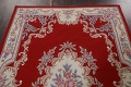 Floral Red Aubusson Chinese Wool Area Rug 5x9 image 12