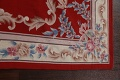 Floral Red Aubusson Chinese Wool Area Rug 5x9 image 13