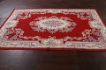 Floral Red Aubusson Chinese Wool Area Rug 5x9 image 14