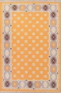 Geometric Kilim Indian Oriental Hand-Woven Area Rug Wool 8x12