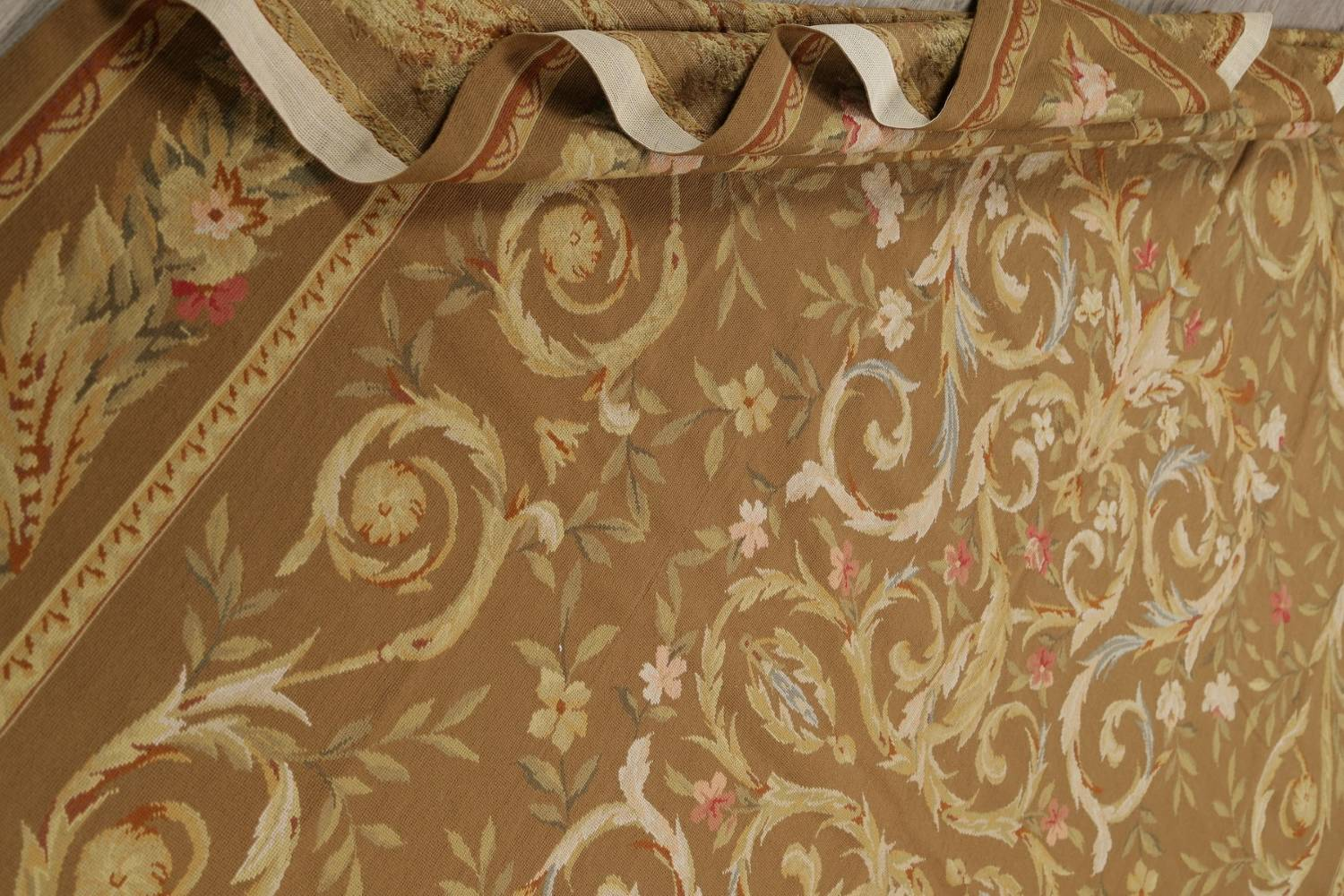 Floral Brown Aubusson Chinese Oriental Hand-Woven Area Rug Wool 8x10 image 15