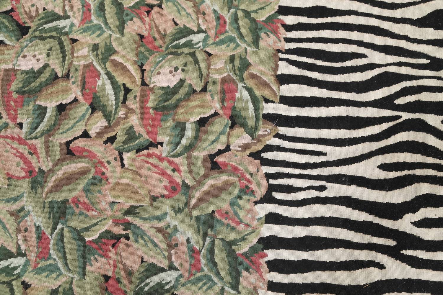 Transitional Animal Print Aubusson Oriental Hand-Woven Area Rug 12x15 image 9
