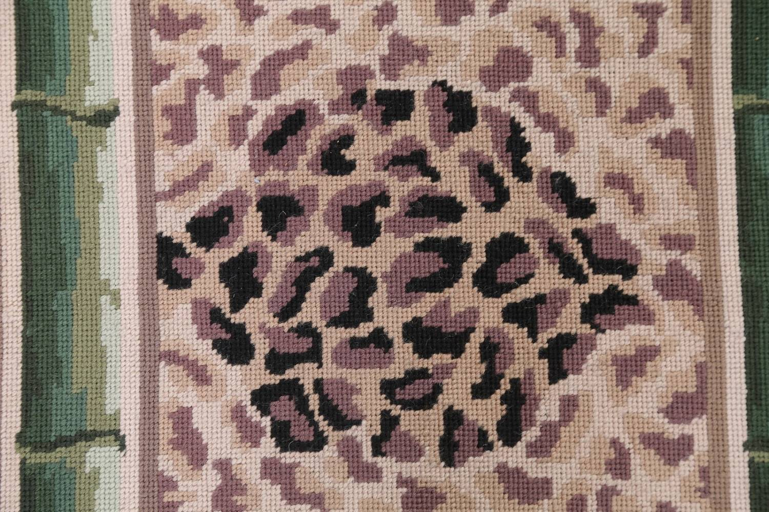 Transitional Animal Print Aubusson Oriental Hand-Woven Area Rug 12x15 image 10