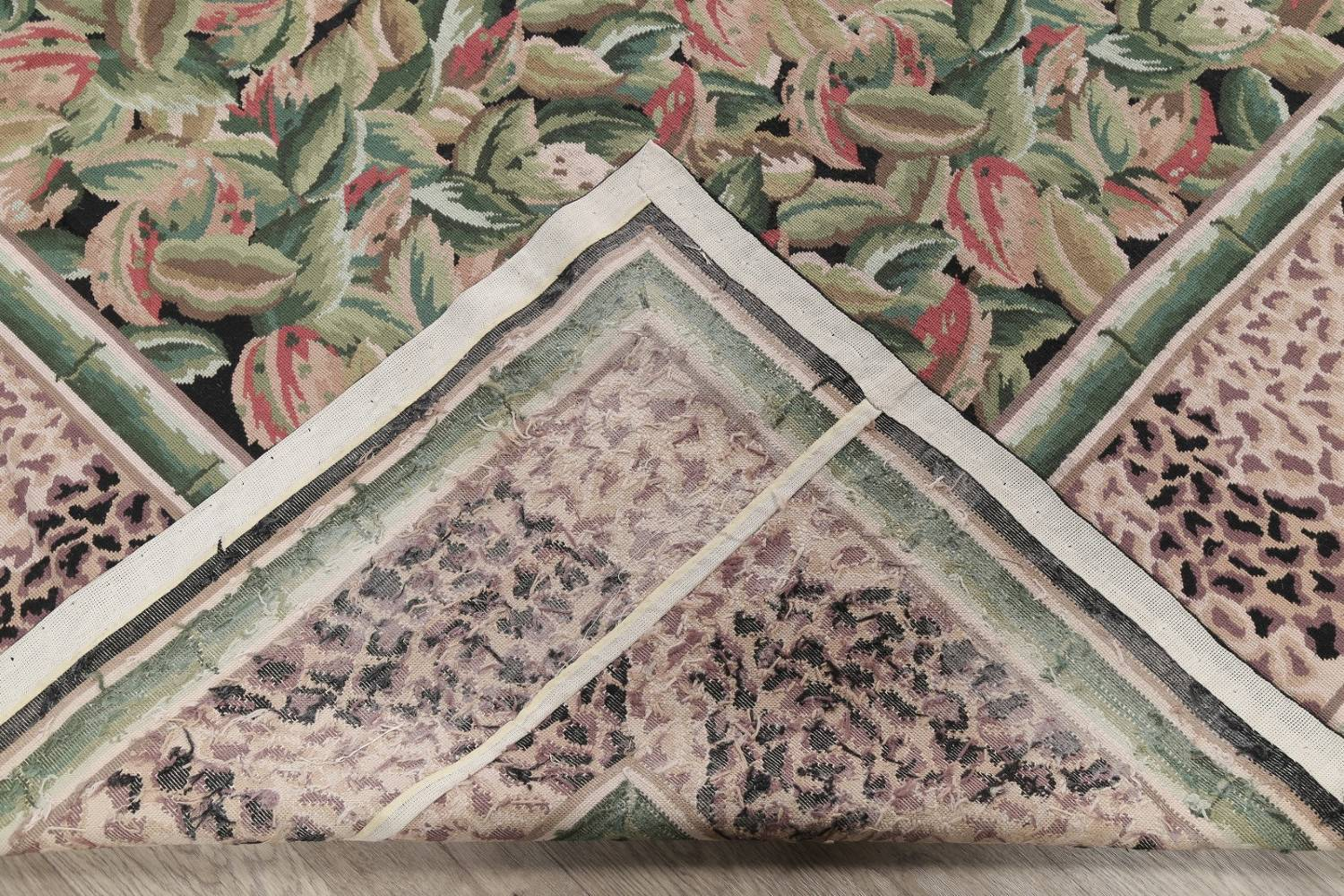 Transitional Animal Print Aubusson Oriental Hand-Woven Area Rug 12x15 image 19