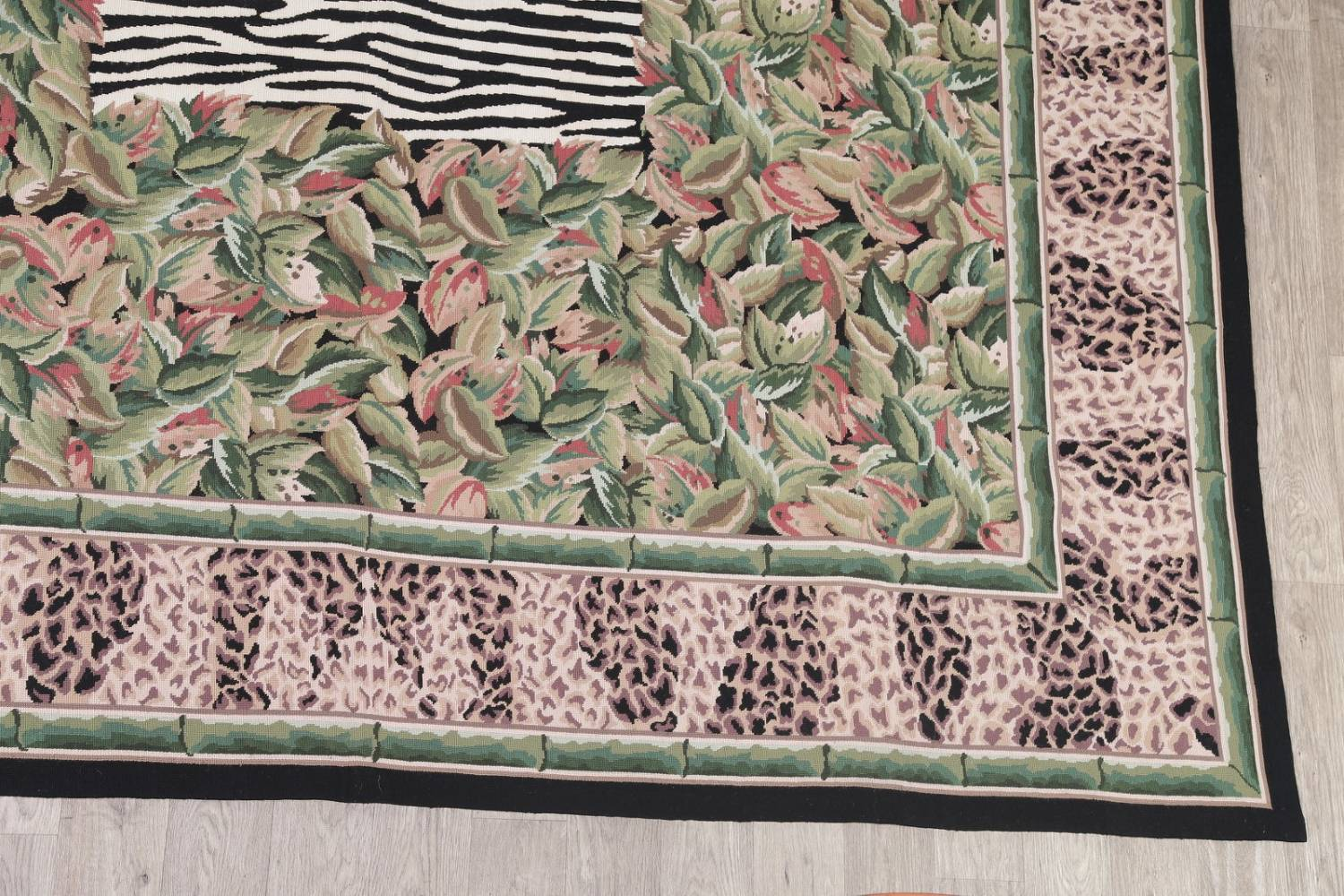 Transitional Animal PrintAubusson Chinese Hand-Woven Area Rug 10X14 image 6