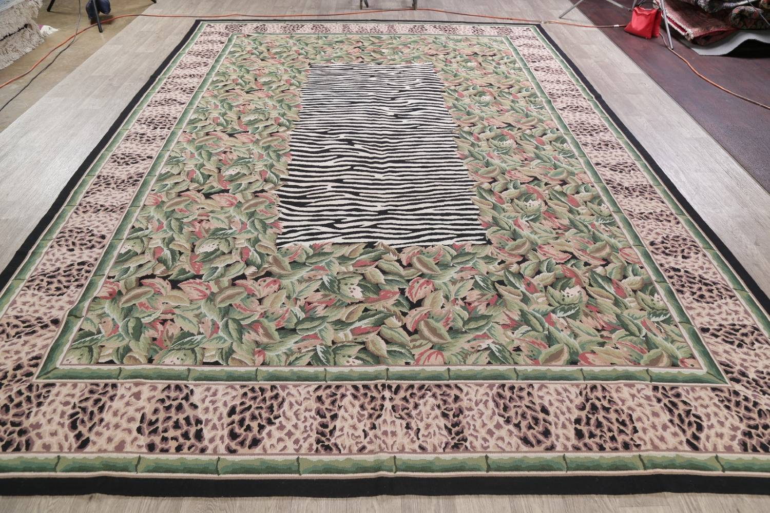 Transitional Animal PrintAubusson Chinese Hand-Woven Area Rug 10X14 image 14