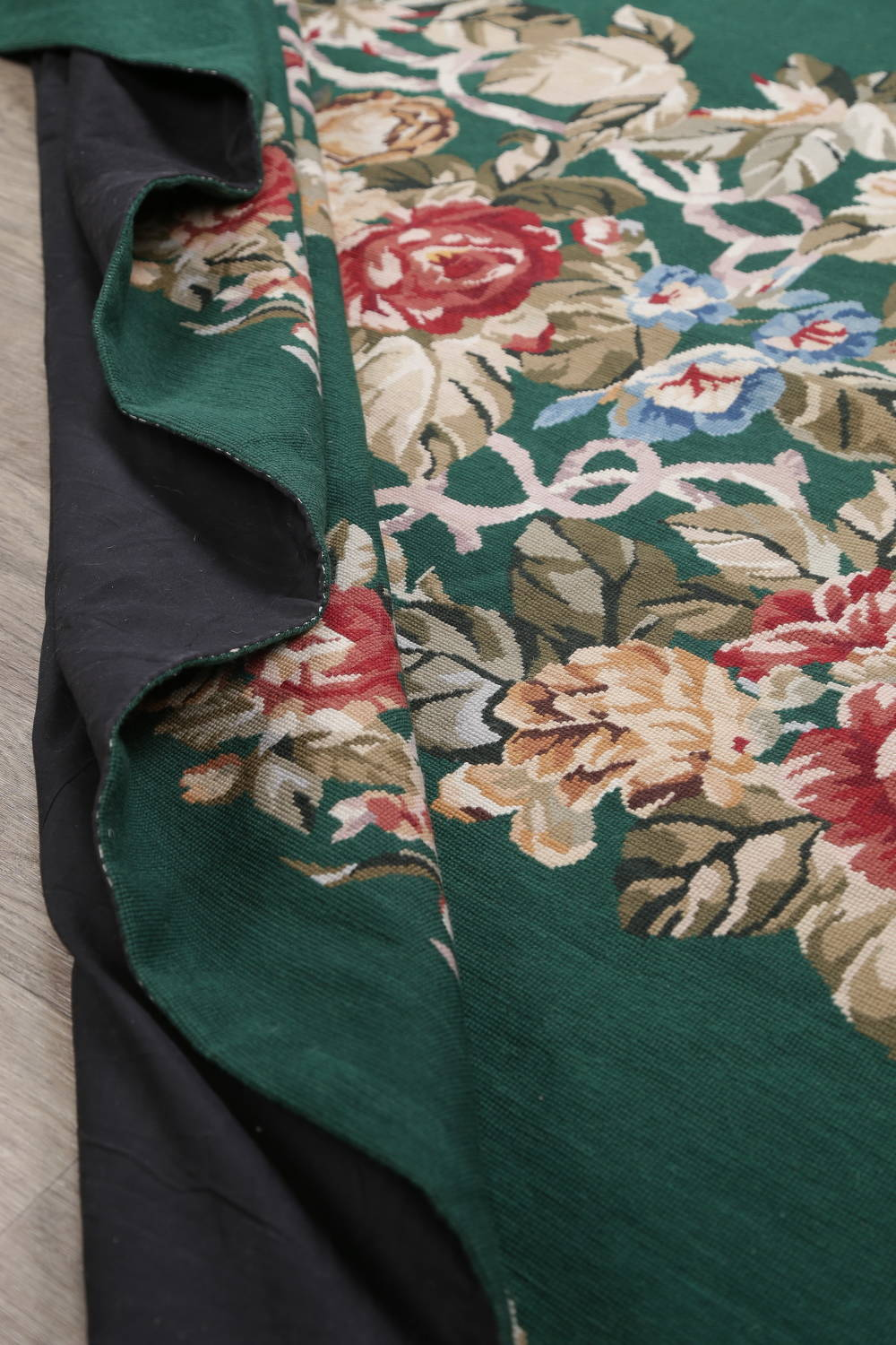 Floral Green Aubusson Chinese Oriental Hand-Woven Area Rug Wool 6x9 image 15