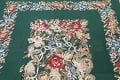 Floral Green Aubusson Chinese Oriental Hand-Woven Area Rug Wool 6x9 image 11