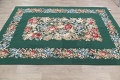 Floral Green Aubusson Chinese Oriental Hand-Woven Area Rug Wool 6x9 image 13