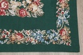 Floral Green Aubusson Chinese Oriental Hand-Woven Area Rug Wool 6x9 image 6