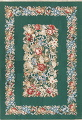 Floral Green Aubusson Chinese Oriental Hand-Woven Area Rug Wool 6x9 image 1
