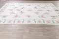 Transitional Ivory Kilim Indo Oriental Hand-Woven Area Rug Wool 9x12 image 11
