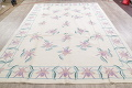 Transitional Ivory Kilim Indo Oriental Hand-Woven Area Rug Wool 9x12 image 12