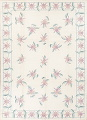 Transitional Ivory Kilim Indo Oriental Hand-Woven Area Rug Wool 9x12 image 1