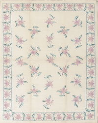 Kilim Durie Indian Oriental Hand-Woven Area Rug Wool 8x10