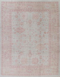 Vegetable Dye Muted Oushak Turkish Hand-Knotted Area Rug 10x13