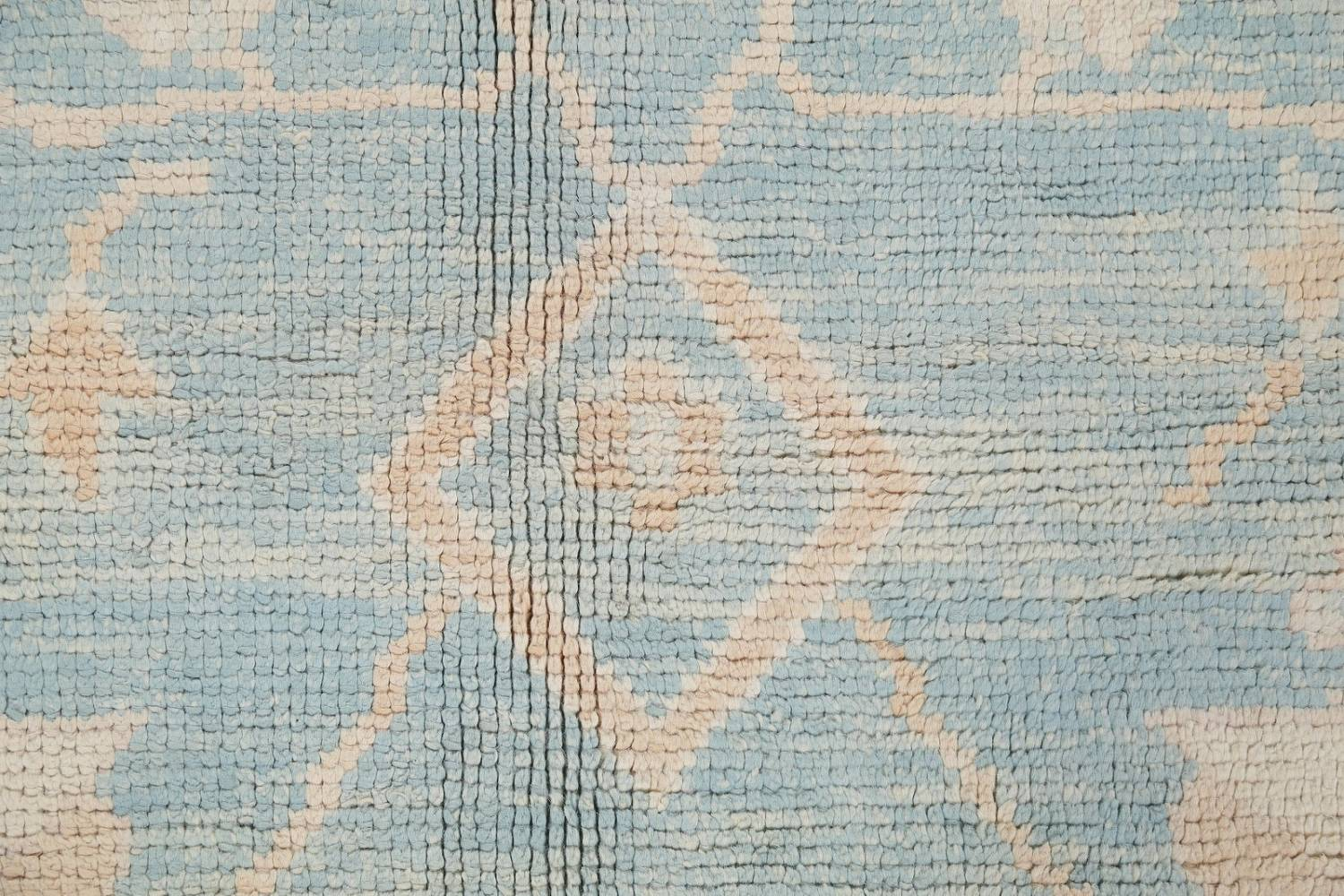 Vegetable Dye Muted Blue Oushak Turkish Hand-Knotted Area Rug 10x14 image 7