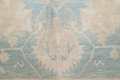 Vegetable Dye Muted Blue Oushak Turkish Hand-Knotted Area Rug 10x14 image 8