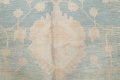 Vegetable Dye Muted Blue Oushak Turkish Hand-Knotted Area Rug 10x14 image 10