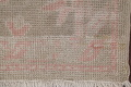 Vegetable Dye Muted Green Oushak Turkish Hand-Knotted Runner Rug 2x12 image 6