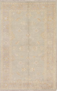 Vegetable Dye Muted Oushak Turkish Hand-Knotted Area Rug 4x6
