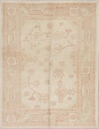 Vegetable Dye Muted Oushak Turkish Hand-Knotted Area Rug 4x5