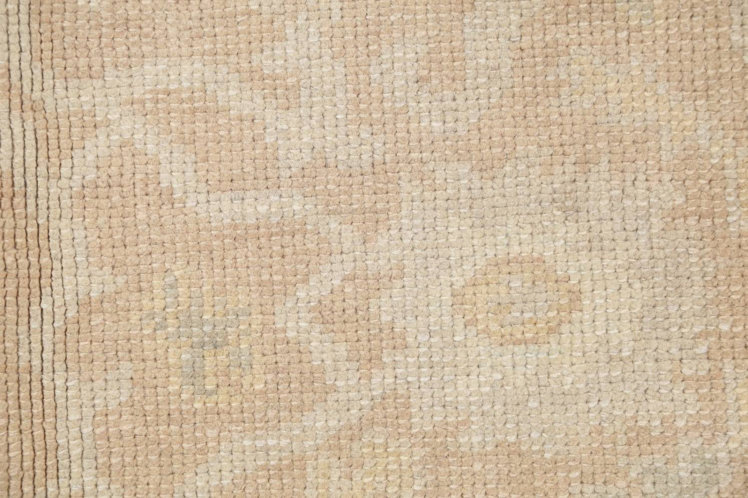 Vegetable Dye Muted Gold Oushak Turkish Hand-Knotted Area Rug 4x5 image 4