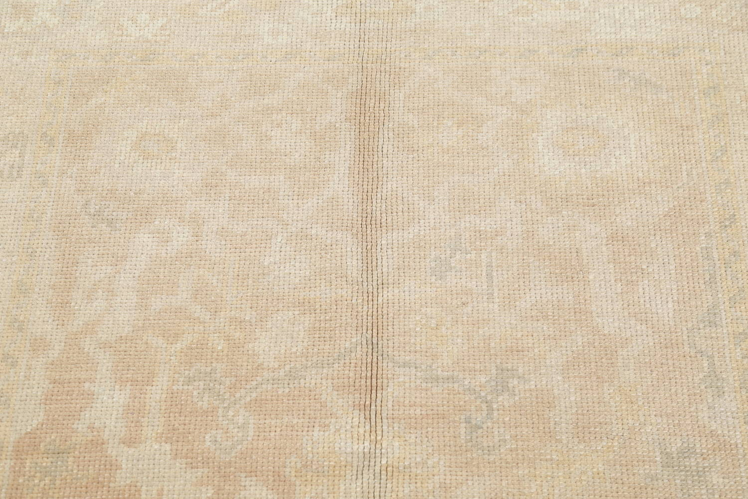 Vegetable Dye Muted Gold Oushak Turkish Hand-Knotted Area Rug 4x5 image 9