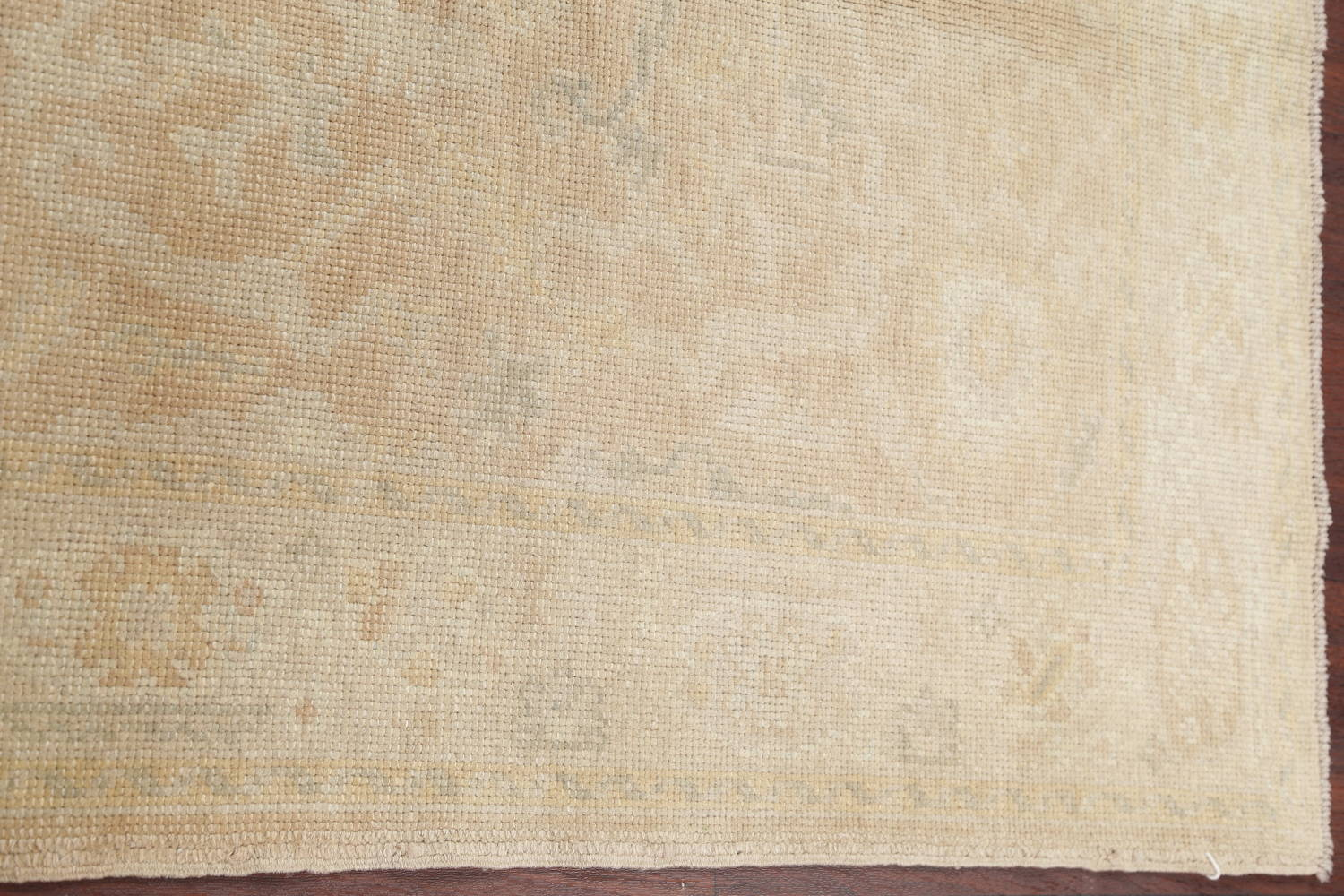 Vegetable Dye Muted Gold Oushak Turkish Hand-Knotted Area Rug 4x5 image 10