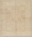 Vegetable Dye Muted Gold Oushak Turkish Hand-Knotted Area Rug 4x5 image 1
