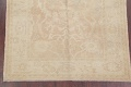 Vegetable Dye Muted Gold Oushak Turkish Hand-Knotted Area Rug 4x5 image 5