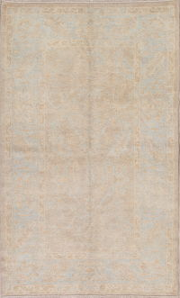 Vegetable Dye Muted Rust Oushak Turkish Hand-Knotted Area Rug 4x7
