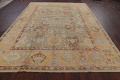 Vegetable Dye Muted Green Oushak Turkish Hand-Knotted Area Rug 9x12 image 16