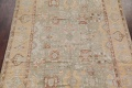 Vegetable Dye Muted Green Oushak Turkish Hand-Knotted Area Rug 9x12 image 3