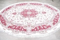 Vegetable Dye Floral Ivory Tabriz Persian Hand-Knotted Area Rug 7x10 image 16