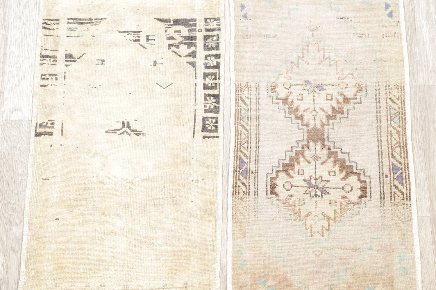 Pack Of Two Geometric Oushak Hand-Knotted Rug Wool 2x3 image 3