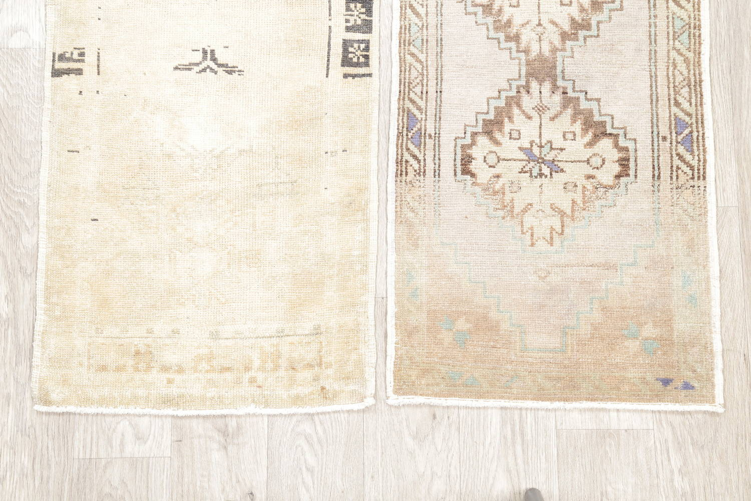 Pack Of Two Geometric Oushak Hand-Knotted Rug Wool 2x3 image 5