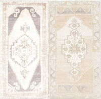 Pack Of Two  Oushak Turkish Rug Wool 2x3