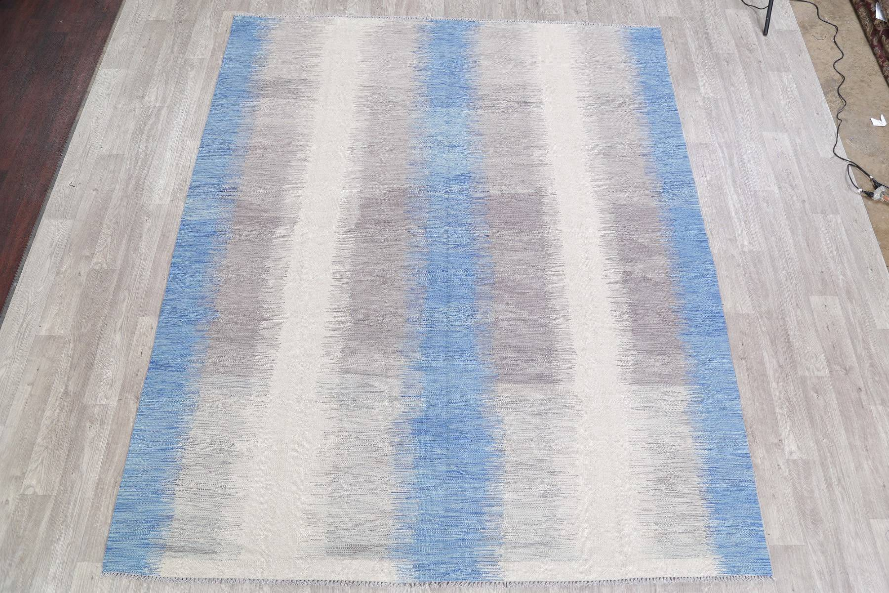 Modern Kilim Turkish Oriental Hand-Woven Area Rug Wool 8x10