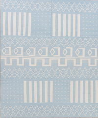 Modern Blue Kilim Turkish Hand-Woven Area Rug Wool 8x10
