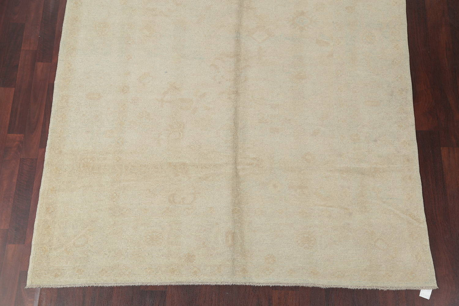 Vegetable Dye Muted Gold Oushak Turkish Hand-Knotted Runner Rug 6x15 image 5