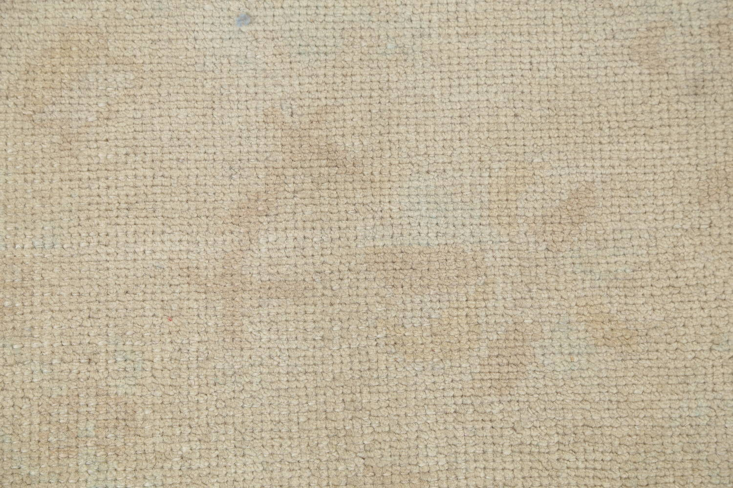 Vegetable Dye Muted Gold Oushak Turkish Hand-Knotted Runner Rug 6x15 image 7