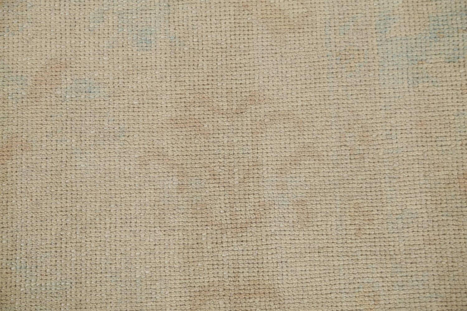 Vegetable Dye Muted Gold Oushak Turkish Hand-Knotted Runner Rug 6x15 image 8