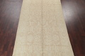 Vegetable Dye Muted Gold Oushak Turkish Hand-Knotted Runner Rug 7x16 image 3
